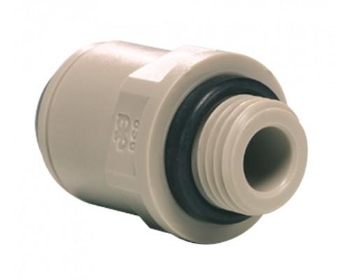 "1/4"" x 1/4 BSP Adaptor αρσενικός O-ring Grey"